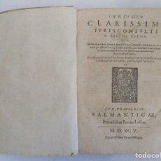 Libros antiguos: LIBRERIA GHOTICA. BELLA EDICION FOLIO DEL S.XVI CON SILIA CLARISSIMI IURISCONSULTI IOANIS GUTIERREZ.. Lote 126347403
