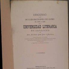 Libros antiguos: POU Y ORDINAS, ANTONIO JOSÉ: RELACIONES ENTRE EL CONCEPTO DEL DERECHO Y LA IDEA DE DIOS. 1875. Lote 127137031