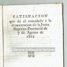 Libros antiguos: [CONSULADO DE COMERCIO DE MALLORCA. PALMA, 1812] SATISFACIÓN QUE DA EL CONSULADO. Lote 128427903