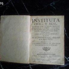 Libros antiguos: EXPLICACIÓN DE LAS LEYES DE JUSTINIANO. BERNI. SIGLO XVIII.. Lote 129372847