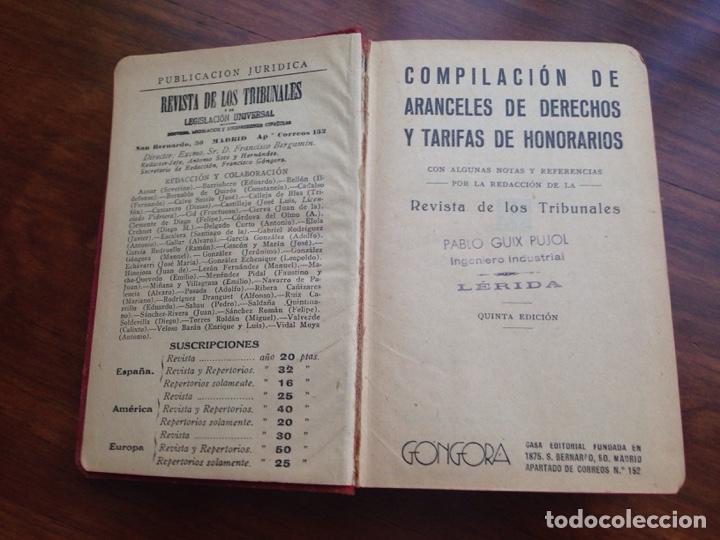 Libros antiguos: Compilación de aranceles Góngora - Foto 2 - 129583622