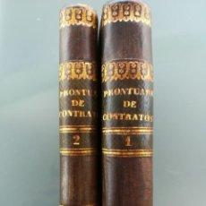 Libros antiguos: PRONTUARIO DE CONTRATOS Y SUCESIONES HEREDITARIAS-2 TOMOS COMPLETA-E. DE TAPIA 1840 IMPECABLES. Lote 130054707