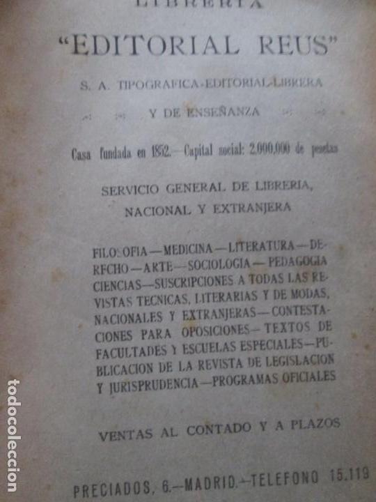 Libros antiguos: LIBRO-DERECHO INTERNACIONAL PRIVADO-JOSÉ MARÍA TRÍAS DE BES-1934-VER FOTOS - Foto 2 - 130579314