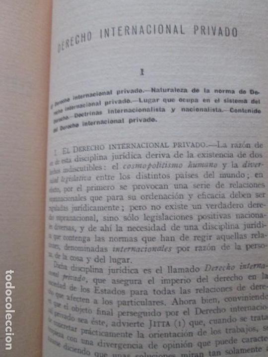 Libros antiguos: LIBRO-DERECHO INTERNACIONAL PRIVADO-JOSÉ MARÍA TRÍAS DE BES-1934-VER FOTOS - Foto 6 - 130579314
