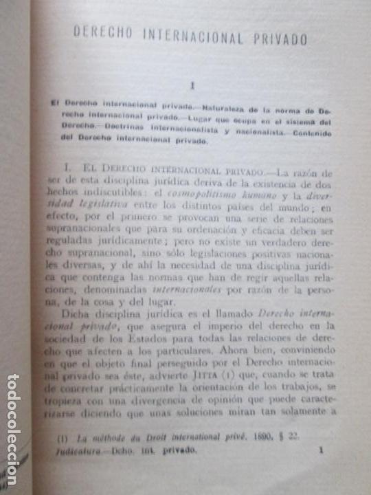 Libros antiguos: LIBRO-DERECHO INTERNACIONAL PRIVADO-JOSÉ MARÍA TRÍAS DE BES-1934-VER FOTOS - Foto 7 - 130579314