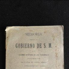 Libros antiguos: MEMORIA ELEVADA AL GOBIERNO DE S.M. EN LA SOLEMNE APERTURA DE LOS TRIBUNALES - 1916. Lote 131250723