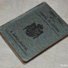 Libros antiguos: CÓDIGO PENAL DE LA MARINA DE GUERRA - SATURNINO CALLEJA - PRINCIPIO DE 1900 - VINTAGE - ENVÍO 24H. Lote 133381118