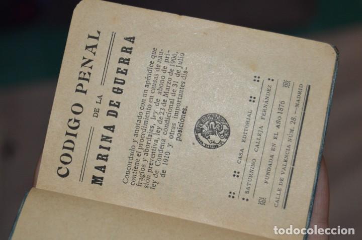 Libros antiguos: CÓDIGO PENAL DE LA MARINA DE GUERRA - SATURNINO CALLEJA - PRINCIPIO DE 1900 - VINTAGE - ENVÍO 24H - Foto 14 - 133381118