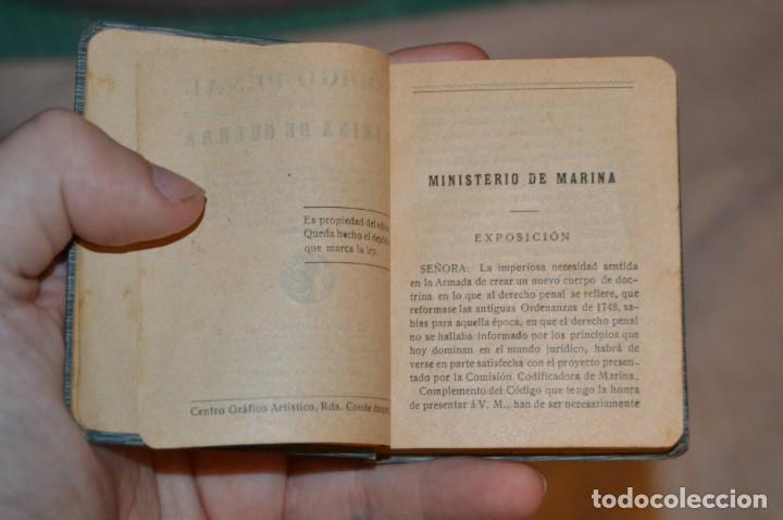 Libros antiguos: CÓDIGO PENAL DE LA MARINA DE GUERRA - SATURNINO CALLEJA - PRINCIPIO DE 1900 - VINTAGE - ENVÍO 24H - Foto 15 - 133381118