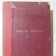 Libros antiguos: DERECHO PROCESAL. CHIOVENDA. VOLUMEN XLV. AUTORES ESPAÑOLES Y EXTRANJEROS. 1922 TOMO I. Lote 133642222