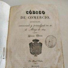 Libros antiguos: CÓDIGO DE COMERCIO 1829 EDICIÓN OFICIAL D. LEÓN AMARITA MADRID . Lote 133718958