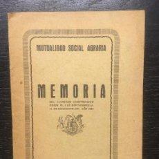Libros antiguos: MUTUALIDAD SOCIAL AGRARIA, MEMORIA 1932, MALLORCA. Lote 134741466