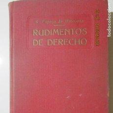 Libros antiguos: RUDIMENTOS DE DERECHO O DERECHO USUAL ESPAÑOL. RICARDO ESPEJO DE HINOJOSA. 1934-35. Lote 134915234