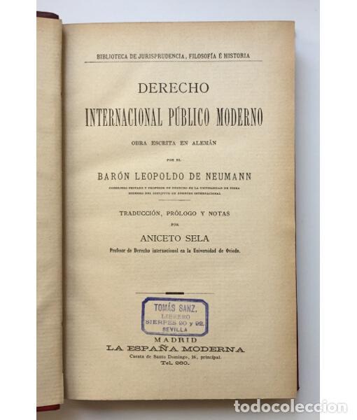 Libros antiguos: DERECHO INTERNACIONAL PÚBLICO MODERNO - Foto 3 - 134965790