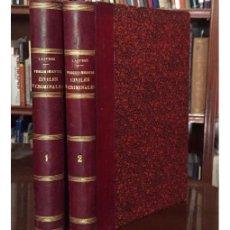 Libros antiguos: PROCEDIMIENTOS CIVILES, CRIMINALES, CANÓNICOS Y CONTENCIOSO-ADMINISTRATIVOS. Lote 134965802