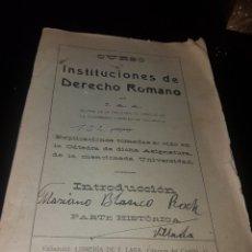 Libros antiguos: INSTITUCIONES DE DERECHO ROMANO. Lote 135040406
