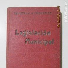 Libros antiguos: LEGISLACIÓN MUNICIPAL DE 31 DE OCTUBRE DE 1935. CONDE DE ROMANONES. PRIMERA EDICIÓN. Lote 135135302