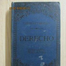 Libros antiguos: ELEMENTOS DEL DERECHO MERCANTIL DE ESPAÑA POR D. MARIANO CARRERAS Y GONZÁLEZ. MADRID 1893. Lote 136069090