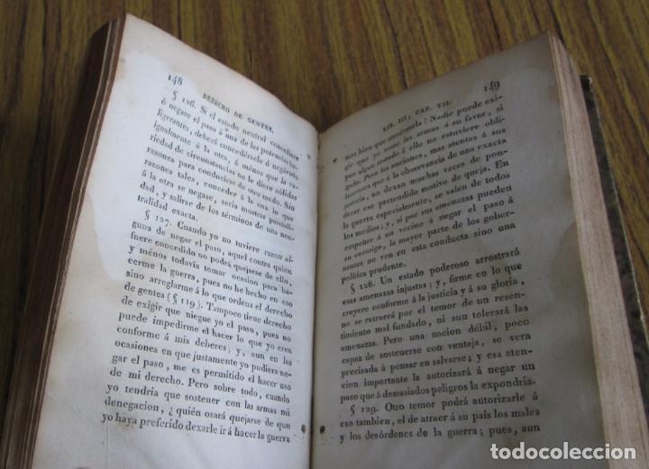 Libros antiguos: DERECHO DE GENTES o principios de la ley natural aplicado a la conducta de intereses ... tm 3 - Foto 3 - 136073914