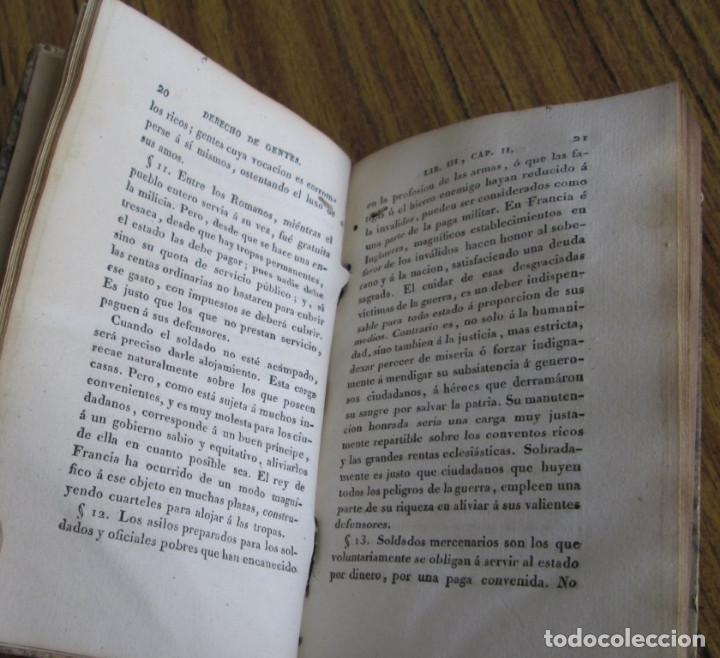 Libros antiguos: DERECHO DE GENTES o principios de la ley natural aplicado a la conducta de intereses ... tm 3 - Foto 4 - 136073914
