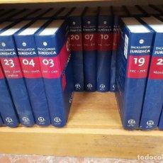 Libros antiguos: ENCICLOPEDIA JURÍDICA LA LEY 35 TOMOS. Lote 136601218