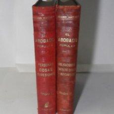 Libros antiguos: EL ABOGADO POPULAR (2 TOMOS) - PEDRO HUGUET Y CAMPAÑA - ED. MANUEL SOLER - 1898. Lote 136834166