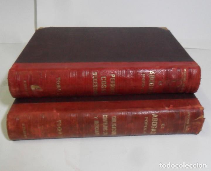 Libros antiguos: EL ABOGADO POPULAR (2 TOMOS) - PEDRO HUGUET Y CAMPAÑA - ED. MANUEL SOLER - 1898 - Foto 2 - 136834166