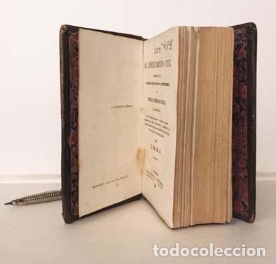 Libros antiguos: Ley de Enjuiciamiento Civil, glosada con los puntos resueltos… 1867. Miniatura Plena piel romántica - Foto 2 - 137470298