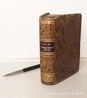 Libros antiguos: Ley de Enjuiciamiento Civil, glosada con los puntos resueltos… 1867. Miniatura Plena piel romántica - Foto 4 - 137470298