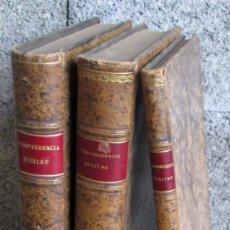 Libros antiguos: 3 LIBROS - COLECCIÓN DE SENTENCIAS DEL CONSEJO SUPREMO DE GUERRA Y MARINA - AÑO 1907 AL 1911. Lote 137560846