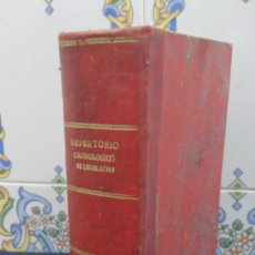 Livros antigos: REPERTORIO CRONOLOGICO DE LEGISLACION - ESTANISLAO DE ARANZADI - 1931 - PRIMERA EDICION. Lote 137625546