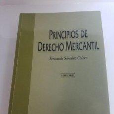 Libros antiguos: PRINCIPIOS DE DERECHO MERCANTIL (FERNANDO SANCHEZ CALERO) MC GRAW HILL. Lote 138557510
