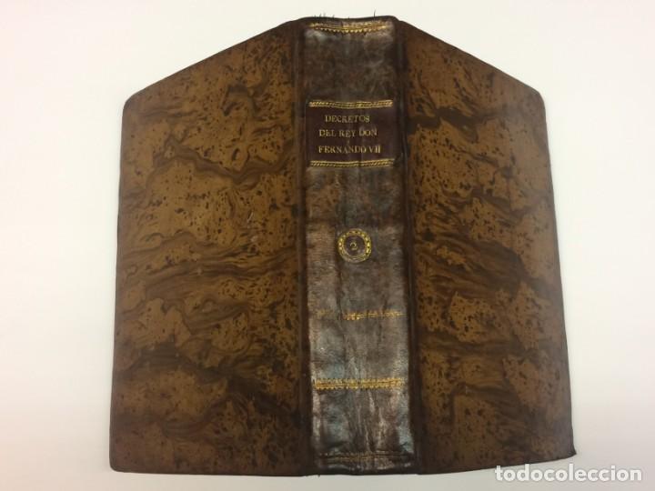 Libros antiguos: AÑO 1816 - MARTÍN DE BALMASEDA. Decretos del Rey Don Fernando VII. Año segundo de su restitución. - Foto 2 - 139401646