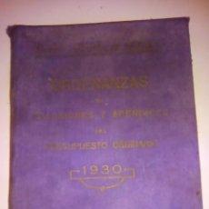 Libros antiguos: AYUNTAMIENTO DE SEVILLA.ORDENANZAS DE EXACCIONES.APENDICES DEL PRESUPUESTO ORDINARIO.1930. Lote 139480074