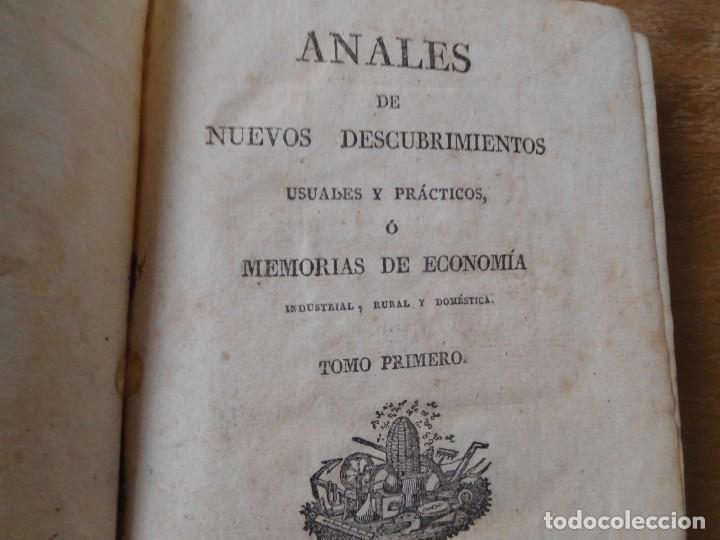 Libros antiguos: Libro anales de nuevos descubrimientos Barcelona año 1828 - Foto 2 - 140285554