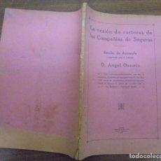 Libros antiguos: LA CESIÓN DE CARTERAS DE LAS COMPAÑIAS DE SEGUROS. ESCRITO DE DEMANDA MADRID 1923. Lote 140468294