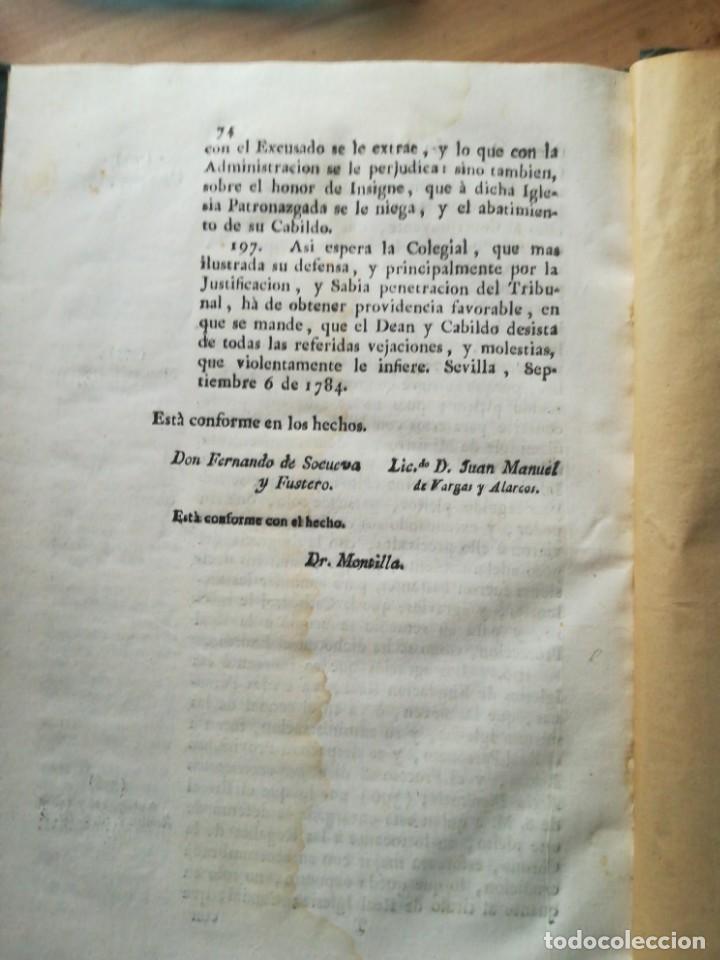 Libros antiguos: El dean y cabildo de la santa meteopolitana y patriarchal iglesia sevilla - Foto 2 - 140887658
