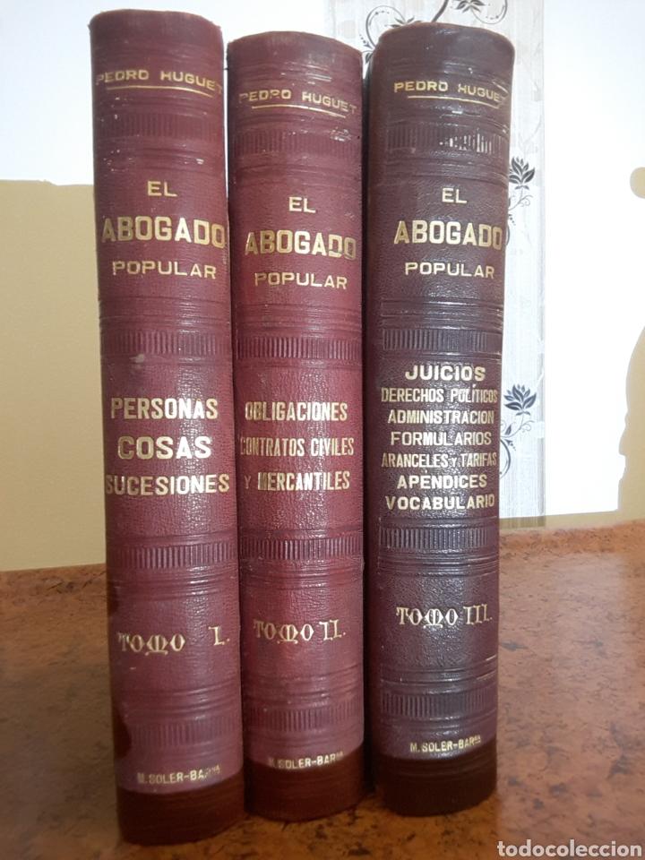 EL ABOGADO POPULAR 3 TOMOS (Libros Antiguos, Raros y Curiosos - Ciencias, Manuales y Oficios - Derecho, Economía y Comercio)