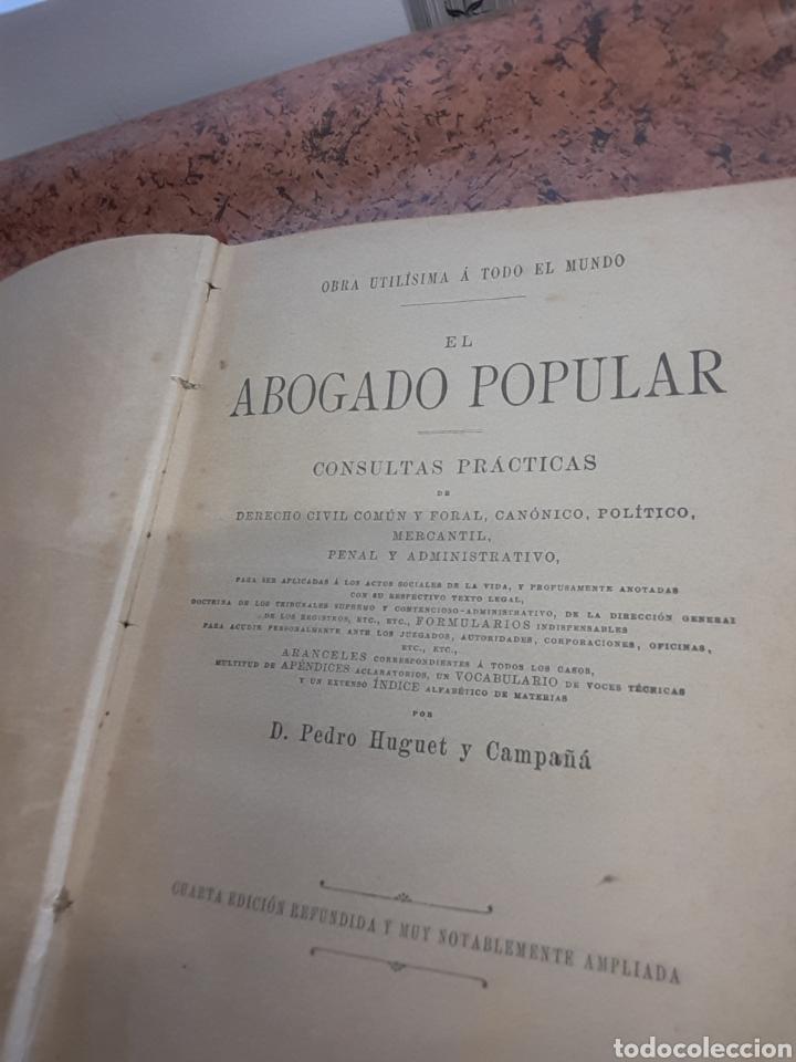 Libros antiguos: El abogado popular 3 tomos - Foto 2 - 140893577
