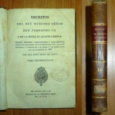 Libros antiguos: NIEVA, JOSÉ MARÍA DE. DECRETOS DEL REY NUESTRO SEÑOR FERNANDO VII, Y DE LA REINA SU AUGUSTA ESPOSA :. Lote 141531630