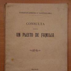 Libros antiguos: CUENCA, MARQUÉS DE VALMEDIANO, TAVARA. CONDE DE TORRES-CABRERA Y SANTILLANA. PLEITO 1911. Lote 142104034