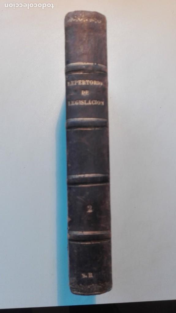 REPERTORIO DE LEGISLACIÓN TOMO 2, 1879 (Libros Antiguos, Raros y Curiosos - Ciencias, Manuales y Oficios - Derecho, Economía y Comercio)