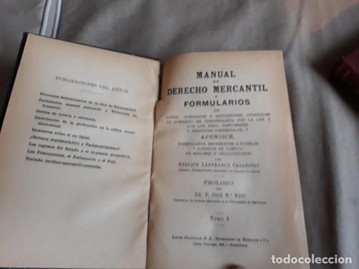 Libros antiguos: MANUAL DE DERECHO MERCANTIL .ENRIQUE LANFRANCO -DOS TOMOS , - Foto 6 - 142319638