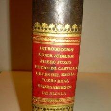 Libros antiguos: LIBRO TAPAS DE PIEL..LOS CODIGOS ESPAÑOLES..AÑO 1847.FUERO DE CASTILLA,ALCALA,FUERO REAL. ETC.. Lote 142796890