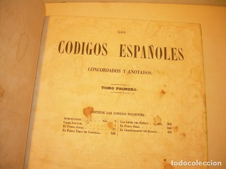 Libros antiguos: LIBRO TAPAS DE PIEL..LOS CODIGOS ESPAÑOLES..AÑO 1847.FUERO DE CASTILLA,ALCALA,FUERO REAL. ETC. - Foto 7 - 142796890