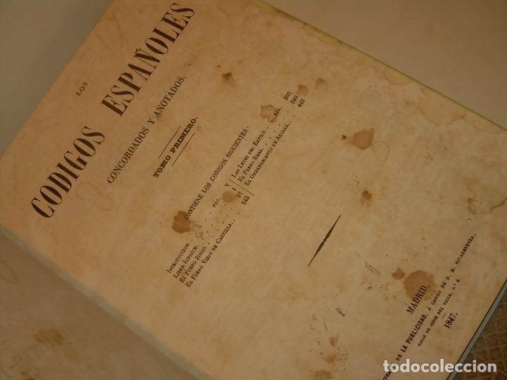 Libros antiguos: LIBRO TAPAS DE PIEL..LOS CODIGOS ESPAÑOLES..AÑO 1847.FUERO DE CASTILLA,ALCALA,FUERO REAL. ETC. - Foto 9 - 142796890