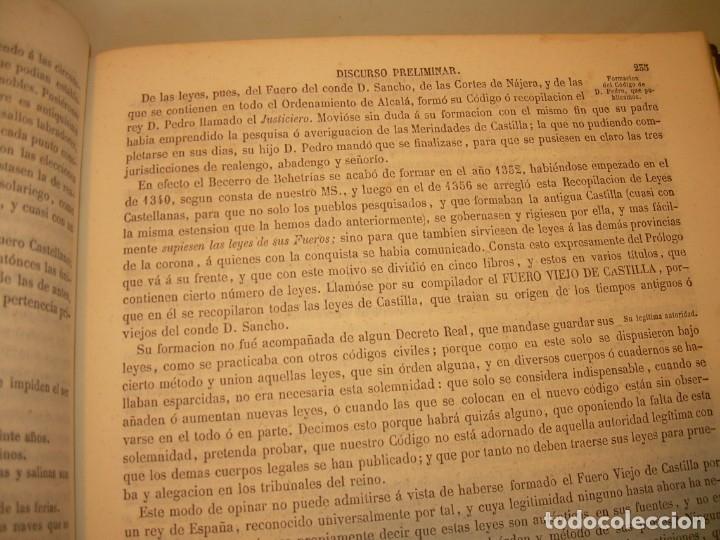 Libros antiguos: LIBRO TAPAS DE PIEL..LOS CODIGOS ESPAÑOLES..AÑO 1847.FUERO DE CASTILLA,ALCALA,FUERO REAL. ETC. - Foto 34 - 142796890