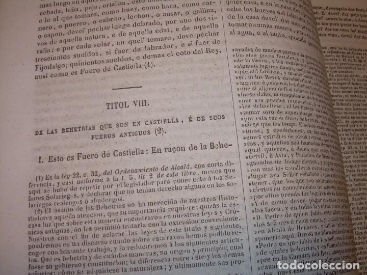 Libros antiguos: LIBRO TAPAS DE PIEL..LOS CODIGOS ESPAÑOLES..AÑO 1847.FUERO DE CASTILLA,ALCALA,FUERO REAL. ETC. - Foto 37 - 142796890