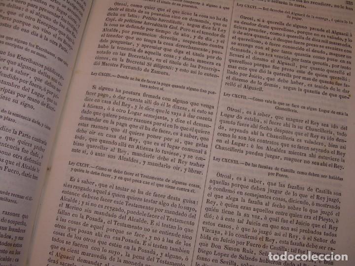 Libros antiguos: LIBRO TAPAS DE PIEL..LOS CODIGOS ESPAÑOLES..AÑO 1847.FUERO DE CASTILLA,ALCALA,FUERO REAL. ETC. - Foto 41 - 142796890