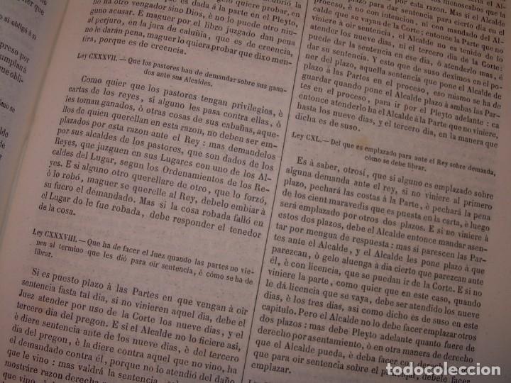 Libros antiguos: LIBRO TAPAS DE PIEL..LOS CODIGOS ESPAÑOLES..AÑO 1847.FUERO DE CASTILLA,ALCALA,FUERO REAL. ETC. - Foto 47 - 142796890